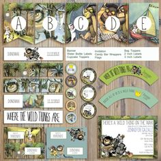 Instant Download - Where The Wild Things Are Max Aaron Emile Monsters Story Editable Printable Party Package Event Invitation Template