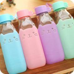 Botellas gatunas de cristal y silicona. Mi preferida ¡mint!                                                                                                                                                                                 Más