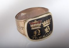 Gold mourning ring commemorating Vice-Admiral Horatio Nelson (1758-1805).