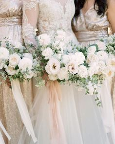 We love this combination of soft, romantic blooms and shimmery rose gold dresses. Not to mention the gorgeous dress worn by… Spring Wedding Bouquets, Fall Bouquets, Bride Bouquets, Bridesmaid Bouquet, Bridesmaids, Floral Wedding, Wedding Flowers, Beautiful Bridesmaid Dresses, Wedding Dresses