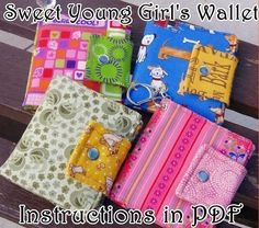 How to Make a Sweet Young Girl's Wallet - DIgital File DIRECT DOWNLOAD
