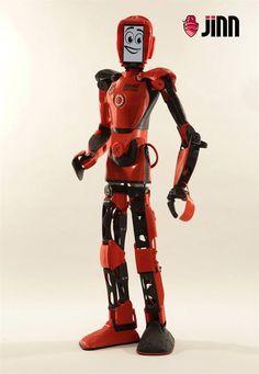3ders.org - Jinn: an Android-based 3D printed robot that walks, talks, teaches and learns | 3D Printer News & 3D Printing News