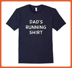 Mens Funny Dad Running Shirt Love Running Runner Gift Shirt Medium Navy - Funny shirts (*Partner-Link)