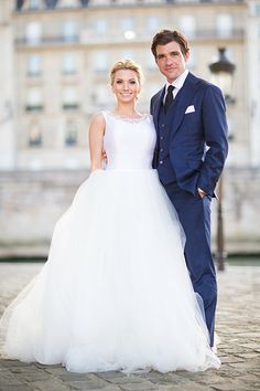 Photo from Bridget and Brian  collection by Le Secret d'Audrey-- Navy suit for wedding! love