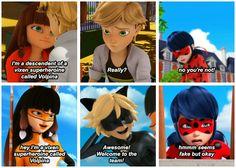 #MiraculousLadybug parallels #LadyNoir #Ladrien #Ladybug #ChatNoir #Adrien #Volpina #Lila