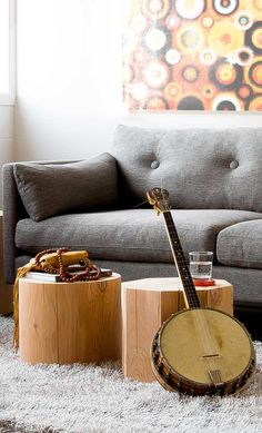 A clean lined sofa that is also so comfortable
