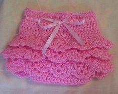 Crocheted Ruffled Diaper Cover