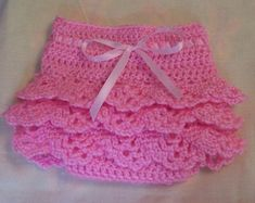 Crocheted Ruffled Diaper Cover