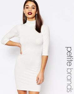 Boohoo Petite | Boohoo Petite Turtle Neck Bodycon Dress at ASOS