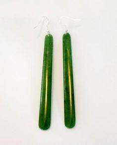 Extra Long Nz Greenstone Drop Earrings Http