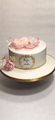 baptism cake for twins by Kvety na tortu