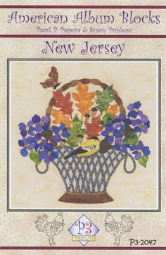 click here to view larger image of American Album - New Jersey The Garden State (PATTERNS)