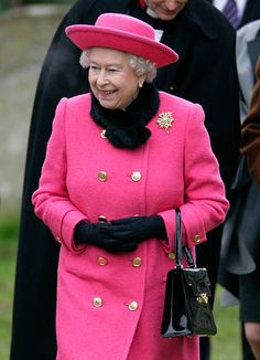 Queen Elizabeth II leaves the church of St Mary in Flitcham near the Sandringham Estate after attending Sunday service on January 15, 2012 near King's Lynn, in Norfolk, England.