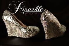 Mirror Glass Wedge Wedding shoe High Heel Pump 2012 NEW Coll