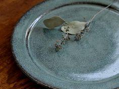 翡翠釉8寸リム皿 - 器と暮らしの道具 OLIOLI