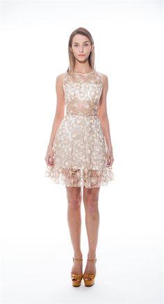 Vestido Renda Guipir Branco - vestidos-curto-skazi-f-vestido - Skazi Modas
