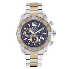 Guess Collection Sportracer Blue & Rose Gold Timepiece Men's Watch