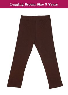Legging Brown Size 5 Years. DinoDee Legging is made with the finest cotton, soft enough to give your child the comfortable feel, and thick enough to warm your little one in the cold days, nicely stretchable for longer use.