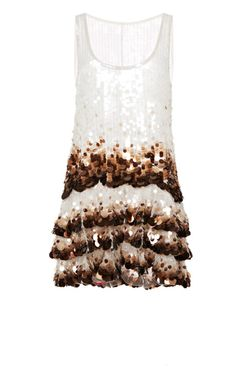 Degrade Sequin Scoop Neck Mini Dress by Marc Jacobs