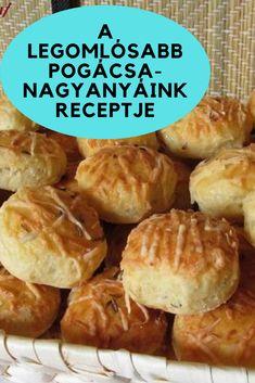 Nagyanyáink receptje! #pogácsa #recept Hamburger, Bread, Recipes, Food, Brot, Essen, Baking, Burgers, Eten