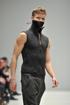 Bondage, Fitness and Wool - Thoughts on the 2012 Ezra Constantine collection Urban Fashion, Dark Fashion, Love Fashion, Mens Fashion, Fashion Outfits, Blazers, Fashion Details, Fashion Design, Rivethead