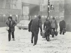 Vintage Photographs of Toronto Snow Storms that took place over the years including some of the aftermaths and how the city dealt with the snow. Toronto Snow, Toronto Ontario Canada, Snow Storms, Vintage Photographs, Over The Years, Retro, Couple Photos, City, Couple Pics