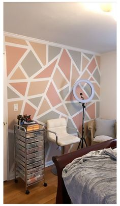 Girl Bedroom Walls, Bedroom Wall Colors, Accent Wall Bedroom, Room Colors, Girl Room, Paint Accent Walls, Baby Room, Bedroom Wall Designs, Room Design Bedroom
