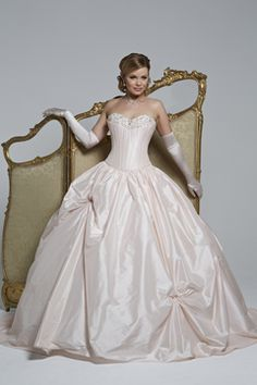 Strapless Organza Emille Wedding Gown Available In Pink From Hollywood Dreams Designer Pinterest