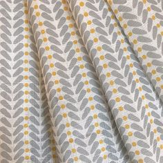 Yellow and Grey Fabric Curtain Fabric Scandinavian Fabric Grey And Mustard Curtains, Mustard And Grey Bedroom, Yellow Curtains, Yellow Fabric, Grey Fabric, Linen Fabric, Curtains To Go, Made To Measure Curtains, Linen Curtains