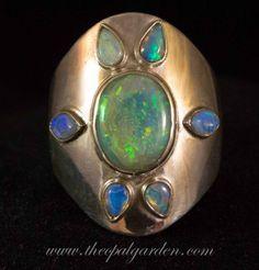 Rings. Tags: Australian black opal, australian opal, coober pedy, crystal opal, hand-made, lightning ridge opal, opal, opal ring, sterling silver.