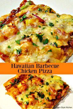 Hawaiian Barbecue Chicken Pizza