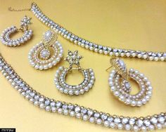 Anklets with beautiful matching pair of earrings.