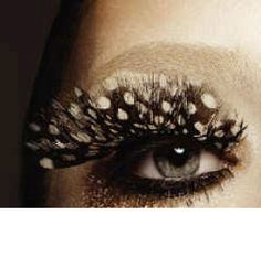 Beautiful feather eyelashes. Finally got myself a pair just like this!!!!!!!!!! :DDD