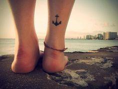 tatuaje ancla tobillo - Buscar con Google