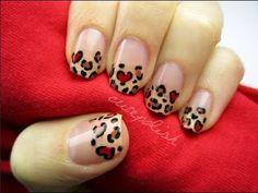 Heart Leopard nail art design by Cutepolish Fancy Nails, Love Nails, Pretty Nails, Leopard Nail Art, Leopard Print Nails, Leopard Spots, Valentine Nail Art, Heart Nails, Fabulous Nails