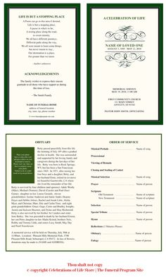 1000 images about celebration of life on pinterest for Free celebration of life program template
