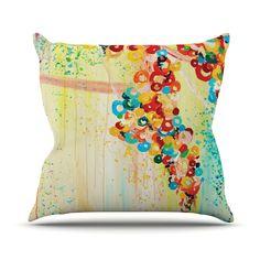 """Ebi Emporium """"Summer in Bloom"""" Throw Pillow"""