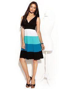 adorable INC dress >color blocking