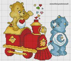 Tenderheart & Bedtime bear 1 of 2 Cross Stitch For Kids, Just Cross Stitch, Cross Stitch Baby, Cross Stitch Charts, Cross Stitch Designs, Cross Stitch Patterns, Cross Stitching, Cross Stitch Embroidery, Stitch Character