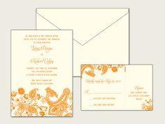 Tanvi Digital Wedding Invitation Set - 1 Color on Etsy, $350.00