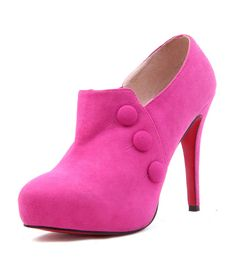 These would look great with a skinny jean, or little black skirt. pink!