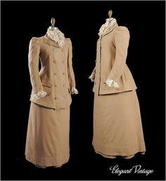 Victorian Belle Epoque Walking Suit c1880's *Grt Size