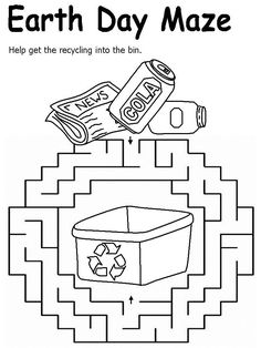 Free Printable Earth Day Worksheets for Kids - Preschool and Kindergarten Earth Day Worksheets, Earth Day Activities, Earth Craft, Earth Day Crafts, Free Kindergarten Worksheets, Worksheets For Kids, Lkg Worksheets, Maze Worksheet, Earth Day Projects