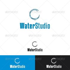 Water Studio Logo Template — Vector EPS #drop #advertising • Available here → https://graphicriver.net/item/water-studio-logo-template/2328402?ref=pxcr