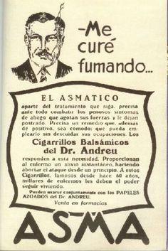 """Los cigarrillos balsámicos del Doctor Andreu estaban compuestos nada menos que de Datura Estramonio (potente alcaloide, que se dice usaban las brujas untándolo en el palo de la escoba, que a continuación frotaban contra su vagina, no por nada le llamaban """"La hierba del Diablo""""), y los papeles azoados, que el enfermo debía quemar en su habitación para aspirar el humazo que salía, de la misma marca contenían Cannabis Índica."""