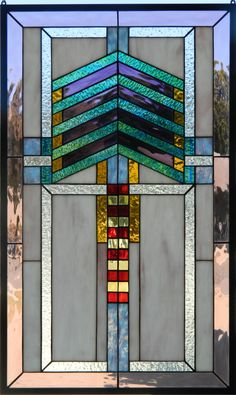 Hey, I found this really awesome Etsy listing at https://www.etsy.com/listing/154199994/prairie-style-stained-glass-arts-crafts