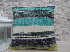 Home Decor Boho Pillow Kilim Cushion 18 x 18 Lumbar Pillow Decorative Floor Pillow Rustic Pillow Bedding Pillow Throw Pillow Aztec Pillow