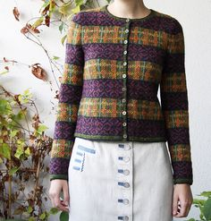 laril's Parsley, a pattern by Marie Wallin in Rowan Fine Tweed, from her first collection Windswept.