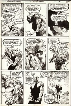 Diversions of the Groovy Kind: Black and White Wednesday: Bernie Wrightson.Original Art from the Swamp Comic Book Artists, Comic Books Art, Bernie Wrightson, Best Book Reviews, Comic Layout, Comic Book Panels, Book Review Blogs, Ink Master, Horror Comics