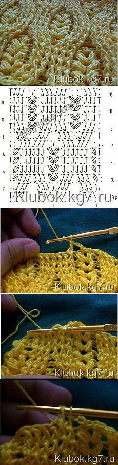 Knitting Shawl Scarf Crochet Chart 63 Ideas For 2019 Crochet Motifs, Crochet Diagram, Crochet Stitches Patterns, Crochet Chart, Knitting Patterns, Crochet Afghans, Free Knitting, Crochet Ideas, Afghan Patterns
